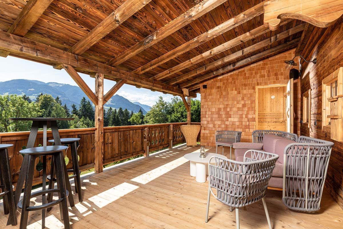 terrace with sauna